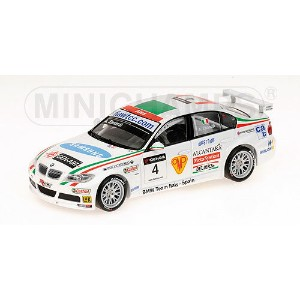 BMW | 3-SERIES 320si TEAM BMW ITALY N 4 3rd RACE SPAIN WTCC 2007 ALEX ZANARDI | WHITE /Minichampsミニチ...
