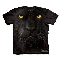 The Mountain Tシャツ Black Panther Face (ヒョウ 豹 ブラックパンサー キッズ 子供用)【輸入品】半袖