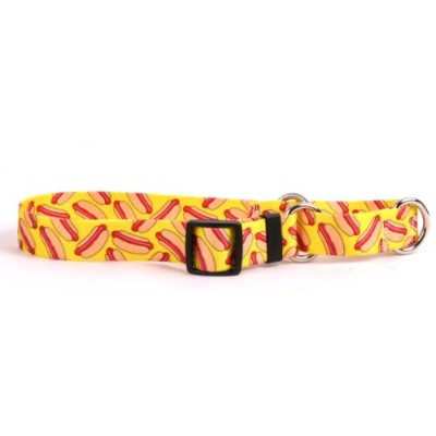 Hot Dogs Martingale Control Dog Collar - Size Extra Small 10 Long - Made In The USA by Yellow Dog...