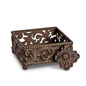 GG Collection Cocktail Napkin Holder - Acanthus Leaf by GG Collection