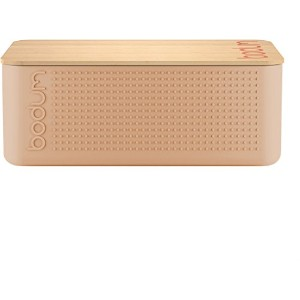 Bodum Bistro - Bread Bin and Bread Board - Plastic and Bamboo - Cream
