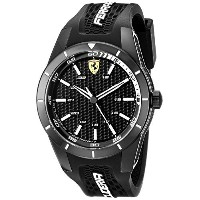 フェラーリ Ferrari Men's 0830249 REDREV Analog Display Japanese Quartz Black Watch [並行輸入品]