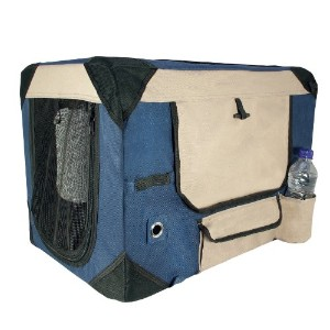 Dogit Deluxe Soft Crate with Bag for Pets, Medium, Blue by Dogit