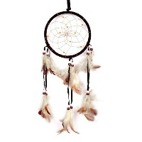 Cren Handmade Dream Catcher with Feathers Hanging Approx 13cm/ 5.12inch Diameter 48cm/18.9inch Long...