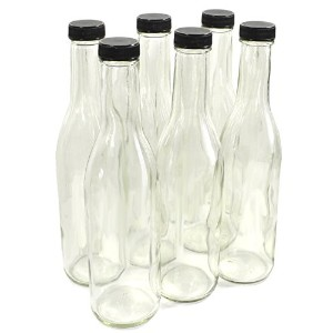 Clear Glass Woozy Bottles, 12 Oz - by nicebottles