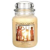 Village Candle 26 oz Glass Jar Scented Candle, Large, Beach Party [並行輸入品]