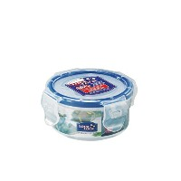 LockandLock Round Food Container with Leak Proof Locking Lid, Short, 0.4-Cup, 3 Fluid Ounce by...