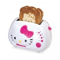 Hello Kitty 2-Slice Wide Slot Toaster With Cool Touch Exterior [並行輸入品]