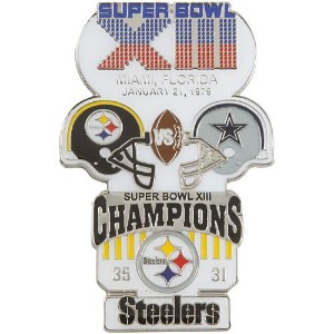 NFL第13回スーパーボウル記念ピン(1979) Super Bowl XIII Commemorative Pin