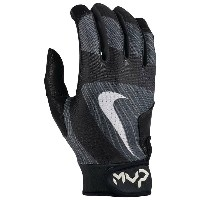 ナイキ メンズ 野球 グローブ【Nike MVP Edge Batting Gloves】Black/Black/Black