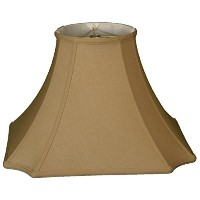 """Royal Designs Square Inverted Cut Corner Basic Lamp Shade, Antique Gold, 9 x 20 x 14 by """"Royal..."""