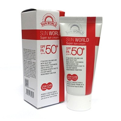 [Sun World] スーパーサンスクリーンSPF 50 + PA +++ 50ml X 1ea / Super sunscreen SPF 50+PA+++ 50ml X 1eav/ 防水...