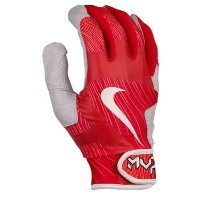 ナイキ メンズ 野球 グローブ【Nike MVP Pro Batting Gloves】University Red/White/Bright Crimson