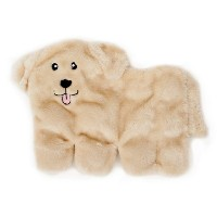 ZippyPaws Squeakie Pup 11-Squeaker No Stuffing Plush Dog Toy, Labrador by ZippyPaws
