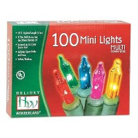 Holiday Wonderland #565223 100-Count Multi Color Christmas Light Set by Noma/Inliten