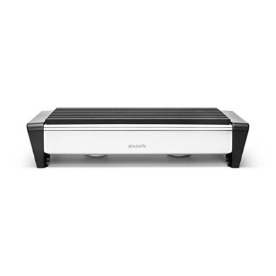 Brabantia Food Warmer, 2 Burner - Matt Steel with Black Grille by Brabantia