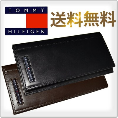 TOMMY HILFIGER トミーヒルフィガー 長財布 小銭入れ付 2色展開 [黒/茶] [メンズ レディース TOMMY 財布 ウォレット wallet トミー 長財布 日本円札用] ...