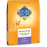 Nature's Recipe Adult Lamb Meal Rice High Quality Protein Natural Dog Food 15lb