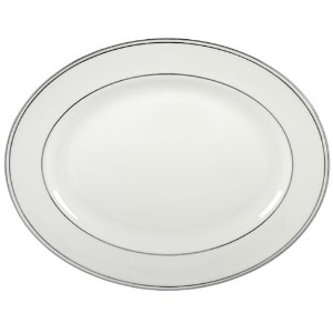 Lenox Federal Platinum 13-Inch Bone China Oval Platter by Lenox