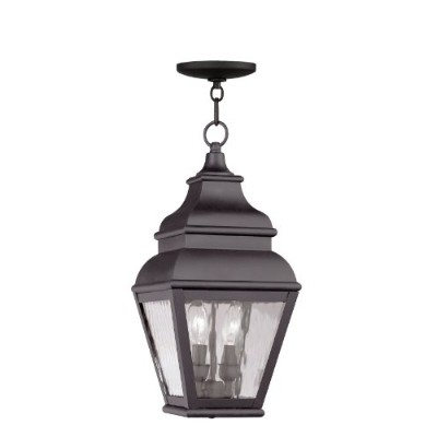Livex Lighting 2604-07 Exeter 2-Light Outdoor Chain Hang, Bronze by Livex Lighting