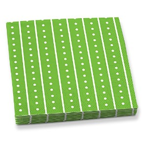 Epic Products Green Stripes and Dots Beverage Napkins ( 20パック)、マルチカラー