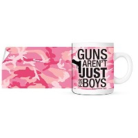 Guns Arent Just For Boys – ピンクカモガンCoffee Mug – 11オンス