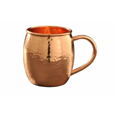 Moscow Mule Copper Mug Hammered (470ml - 100% Pure Solid Copper) best for Cocktail