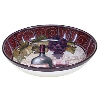 (34cm x 7.6cm , Multicolor) - Certified International 57459 Wine Tasting Serving/Pasta Bowl, 34cm x...