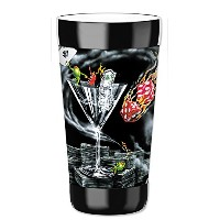 MugzieタンブラーDrink Cup with Removable Insulatedウェットスーツカバー – Michael Godard : Strike Itリッチ 16オンス 916...