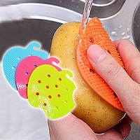 Multi-functional Fruit Vegetable Brush Kitchen Tools Easy Cleaning Brush For Potato Kitchen Home...