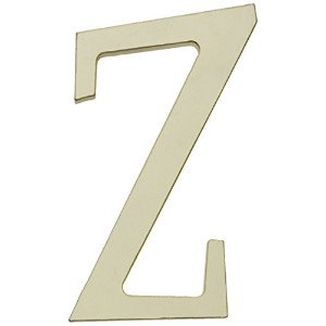 New Arrivals Wooden Letter Z with Solid Brown Ribbon, Cream by New Arrivals