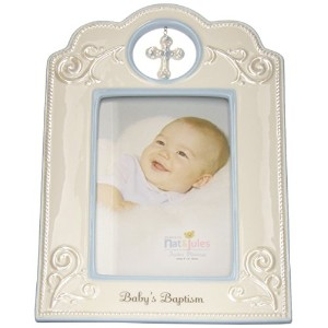 Nat and Jules Baby's Baptism Frame, Blue by Nat and Jules
