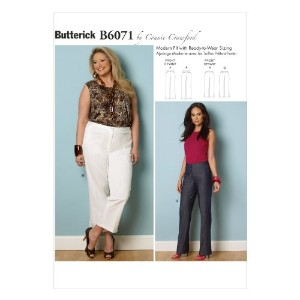 Butterick Patterns B6071 Misses'/Women's Pants Sewing Template, Size MIS (XSM-SML-MED-LRG-XLG) by...