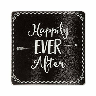 (Happily Ever After) - Brownlow Kitchen Tempered Glass Trivet Cutting Board, Happily Ever After