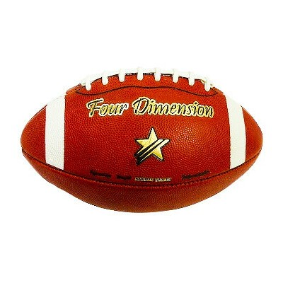 REAL LEATHER AMERICAN FOOTBALL Four Dimension youth size
