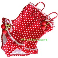 Kate Mack ケイトマック キッズ スイムウエア 子供 ワンピース 水着 Red and White Polka Dot 4~10(110cm~145cm相当)