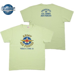 "BUZZ RICKSON'S (バズリクソンズ) S/S T-SHIRT ""U.S.ARMY AIR FORCES"" (半袖プリントTシャツ) SAGE(セージ)"