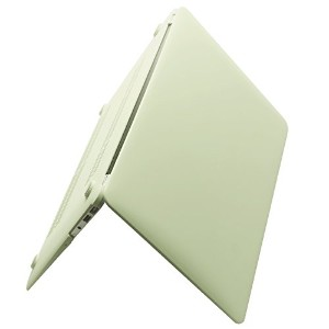 Macbook Air 13ケース – ソフトPUレザーコーティングSee Throughハード保護ケースカバーfor MacBook Air 13.3インチ (A13, Beige)
