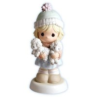 """Precious Moments Girl Holding Lambs """"Merry Christmas Two Ewe"""" by Precious Moments [並行輸入品]"""