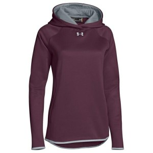アンダーアーマー レディース パーカ&スウェット アウター Women's Under Armour Team Double Threat Fleece Hoodie Maroon/Steel