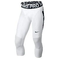 ナイキ メンズ 野球 スポーツ Men's Nike Pro Combat Tight Slider White/Black/White