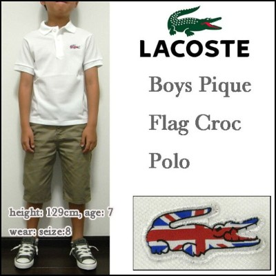 LACOSTE/ラコステ/キッズ/ポロシャツ/ボーイズ/フラッグス/イギリス/PJ9502-51 BOYS Pique Flag Croc Polo/ジュニア/子供 05P03Dec16