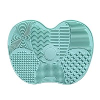 NEW Silicone Makeup Brush Cleaning Mat Washing Tools Hand Tool Large Pad Sucker Scrubber Board...