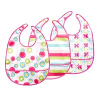 JJ Cole Bib Set Pink Shapes by JJ Cole