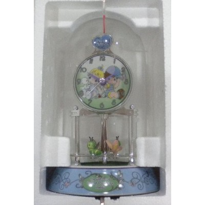 Precious Moments Porcelain Anniversary Collectible Clock [並行輸入品]