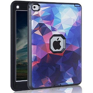 ipad Air Case, AICOO YCL COLOR FANTASY Rugged Hybrid Three Layer Hard PC + Soft Silicone Shockproof...