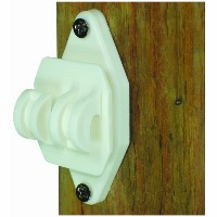 Field Guardian Wood Post Nail on Insulator for Hi-Tensile, White by Field Guardian