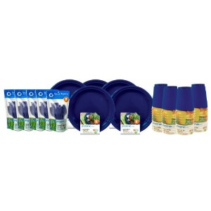 Preserve On the Go Tableware Set, 120 Pieces, Midnight Blue by Preserve