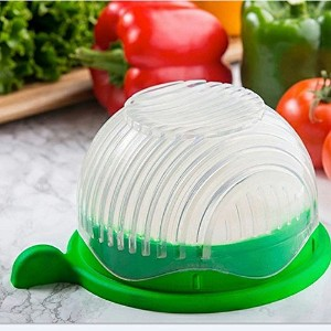 New Salad Cutter Bowl,Vegetable Cutter Bowl Salad Maker Easy Make Your Salad in 60 Seconds Kitchen...
