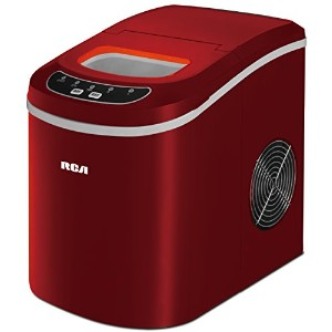 COMPACT ICE MAKER RED